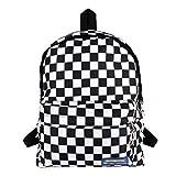 Heidi Bag Vintage Old Skool School Backpack Casual Canvas Travel Rucksack Checkerboard Print