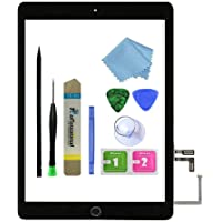 Zentop for Black iPad 5 2017 9.7 inch (A1822, A1823) Touch Screen Digitizer Assembly Replacement with Home Button…
