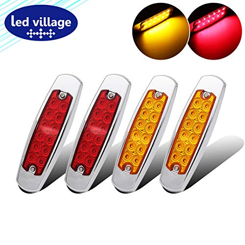 """4 Pcs LedVillage 6.4"""" Slim 2 Amber & 2 Red Clearance, used for sale  Delivered anywhere in USA"""