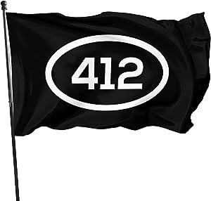 SYTXDZ Pittsburgh Skyline 412 Flag Garden Flag Durable Weather-Proof Flags