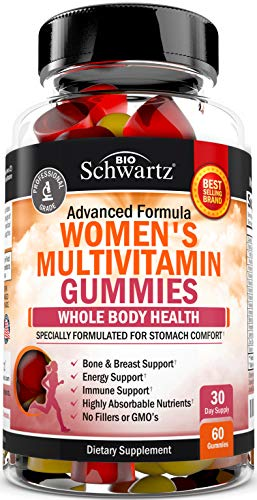 Women's Multivitamin Gummies with A, C, B6, B12, D & E Vitamins for Immune Support – Highly Absorbable Nutrients for…