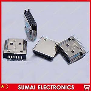 ARBUYSHOP 50pcs / lot del enchufe macho conector HDMI HD sockect 1.6MM espacio para equipos de alta definición libre del envío