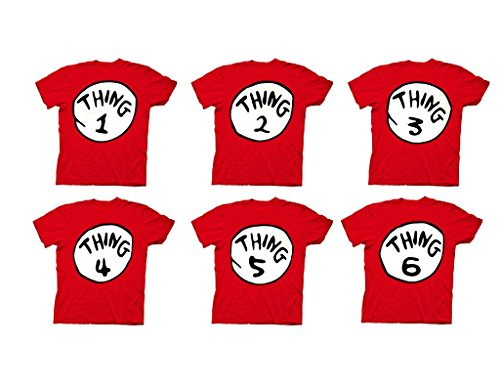 OCPrintShirts Kids Youth Toddler Thing 2 Dr Seuss Halloween T-Shirt (9-12 years old) L Red (Girls Halloween Shirts)