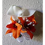 Orange-Orchid-Calla-Lily-Orchid-Bridal-Wedding-Bouquet-Boutonniere