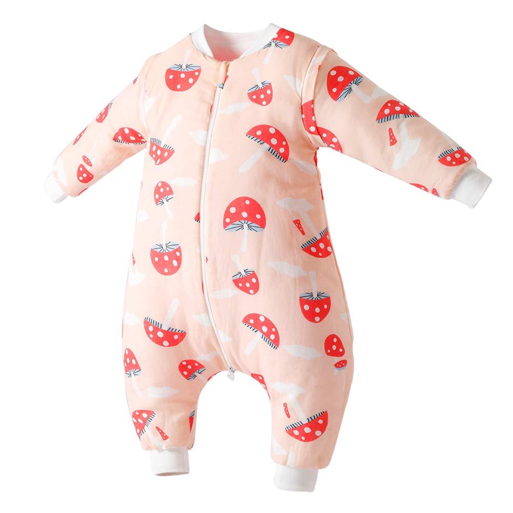 Happy Cherry Sacco a Pelo per Passeggino Precoce per Bambini con Coperta Indossabile Manica Staccabile Piedi per la Primavera Autunno