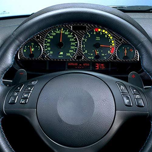 1998-2005 Lasamot Cubierta Interior de Tablero de Instrumentos de Fibra de Carbono Panel Decorativo del Tablero de Instrumentos Cubierta Decorativa para BMW Serie 3 E46