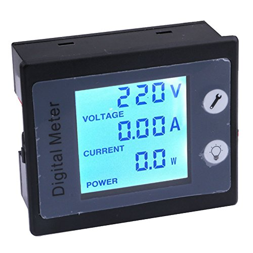 Digital Meter with CT, Yeeco AC 80-260V 10A Multifunciton Voltage Amperage Power Energy Meter STN Full-View LCD Digital Multimeter Gauge Monitor LCD Digital Display Volts Current Measuring