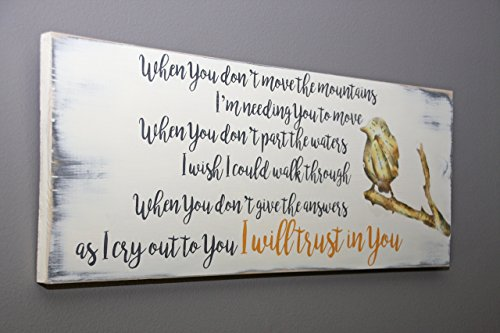 Trust in You lyrics handmade wooden sign by jumpingPineapple (Image #3)
