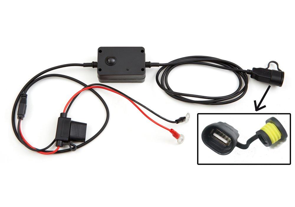 Cargador USB de teléfonos apto para motocicletas, motos, ciclomotores y escúteres que se conecta directamente a la batería. Universal para todos los ...