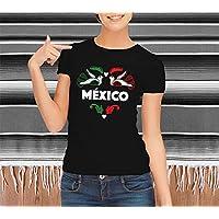 1WEN! Corazón México, playera color negro, varias tallas