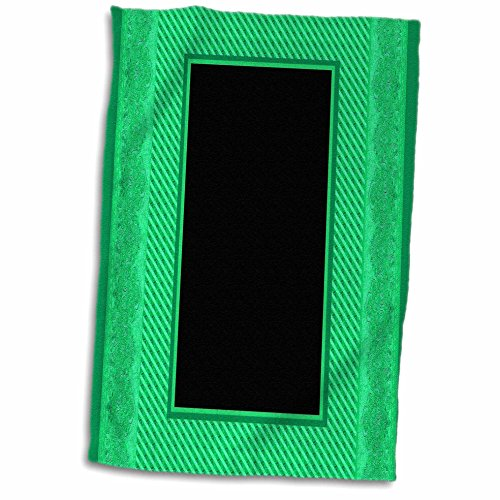 3D Rose Kelly Green Striped and Damask Ribbon Frame twl_3339
