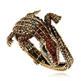 KAYMEN FASHION JEWELLERY Kaymen Jewelry Antique Gold Rhinestone Statement Cuff Bracelets Animal Style for Women