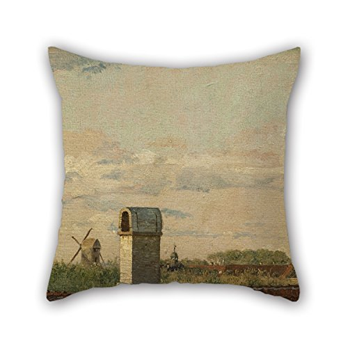 Leather Bke (Oil Painting Christen K?bke - View From A Window In Toldbodvej Looking Towards The Citadel In Copenhagen Throw Pillow Covers Best For Dance Room Teens Study Room Floor Car Wedding 20 X 20 Inches /)