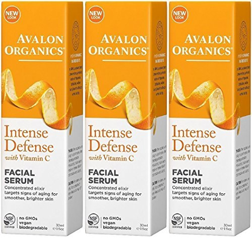 Avalon Organics Vitamin C Renewal Vitality Facial Serum, 1 Ounce (Pack of - Facial C Serum Vitality Avalon Organics Vitamin