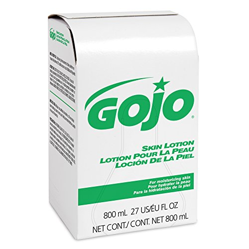 GOJO 800 Series Skin Lotion, Contains Vitamin E and Aloe with Vitamin E and Aloe, 800 mL Lotion Refill for 800 Series Bag-in-Box Push-Style Dispenser (Pack of 6) - ()