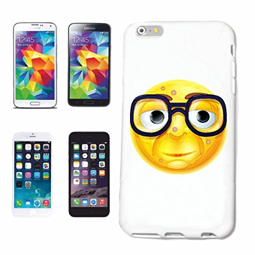 "cas de téléphone iPhone 7S ""GEEK NERD SMILEY SMILEY AVEC GRANDE LUNETTES ""SMILEYS SMILIES ANDROID IPHONE EMOTICONS IOS sa sourire EMOTICON APP"" Hard Case Cover Téléphone Covers Smart Cover pour Apple"