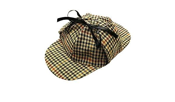 Gorro de Cazador Sombrero Sherlock Holmes Estilo Accesorio de ...