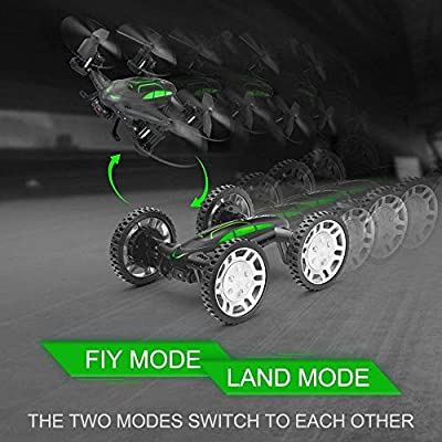 RC Drones for Kids, Drone with 720P Live Camera, Rolytoy Remote Control Off-Road Car WiFi Quadcopter Buggy 360°Flip Flying Cars Headless Mode with 2 Rechargeable Batteries from Abeyc