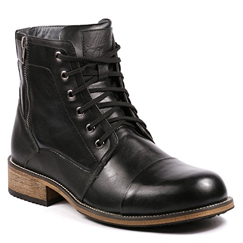 Metrocharm MC003 Men's Lace Up Cap Toe Formal Dress Casual Fashion Boots
