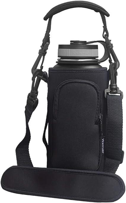 1000ml neoprene water bottle carrier insulated cover bag holder strap travel HL