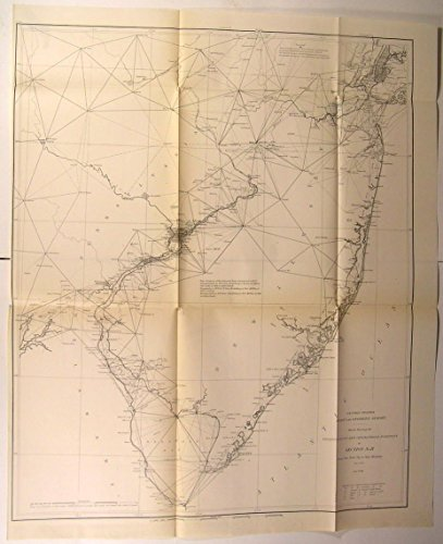 Cs Chart (NY City to Cape Henlopen Coast Delaware Bay NJ 1881 U.S.C.S. old nautical chart)