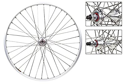 Wheel Master Front And Rear Bicycle Wheel Set 20 x 1-1/8 36H, Sun M13-II, Bolt On, Silver