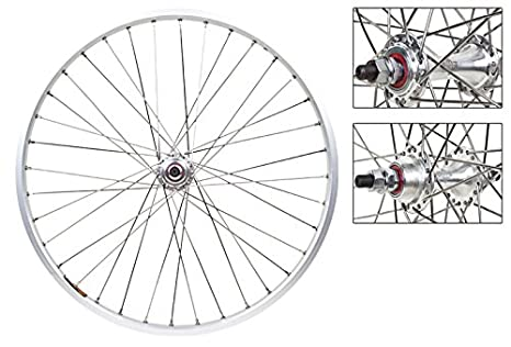 Wheel Master Front And Rear Bicycle Wheel Set 20 X 1 1/8 36 H, Sun M13 Ii, Bolt On, Silver by Wheel Master