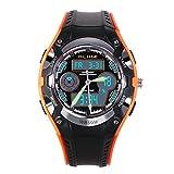 Kids Sports Digital Watch, Boys Girls Watches Children Student Analog Quartz Waterproof Watch with Alarm Stopwatch – Orange