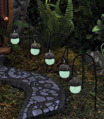 Glow In The Dark Acorn Path Lights Set of 5