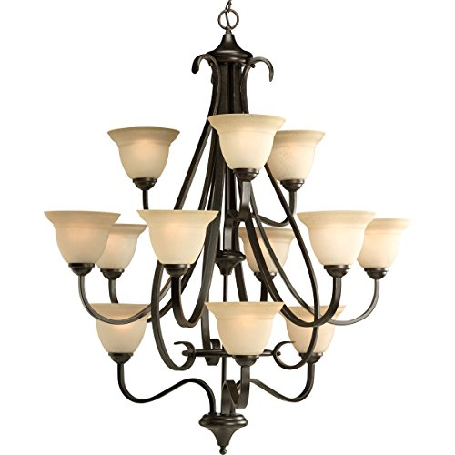 (Progress Lighting P4419-77 Torino Twelve-Light Foyer Pendant, 34