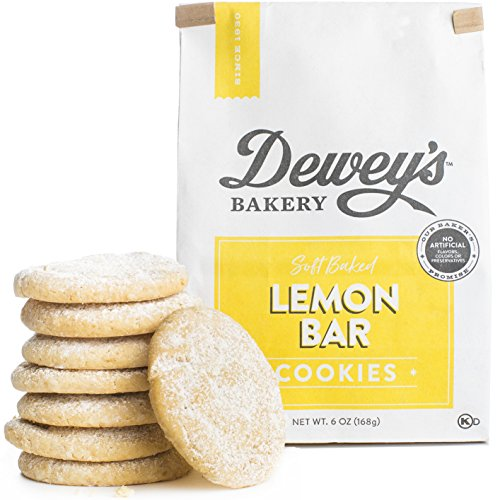 Dewey's Bakery Lemon Bar Soft Baked Cookies | Baked in Small Batches | Real, Simple Ingredients | | Southern Bakery Recipe | 6 oz (Pack of 3) -