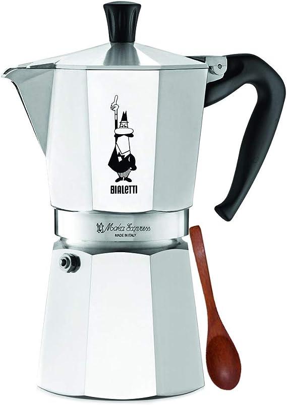 3 Cup Cafetera Moka Cafetera Espresso en Aluminio Cafetera de Aluminio Para uso Dom/éstico