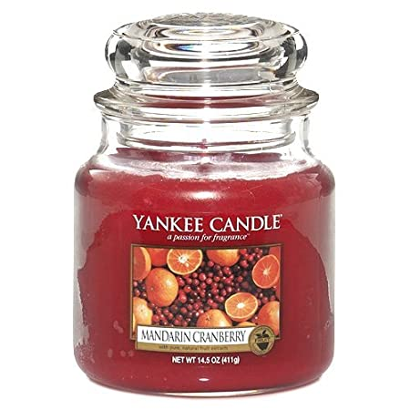 Fruit Scent Yankee Candle Company 1053156E Yankee Candle Mandarin Cranberry Small Jar Candle