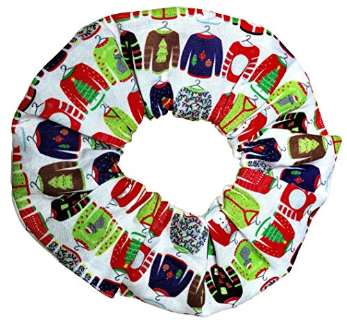 Ugly Christmas Sweater Scrunchies Cotton Ponytail Holders Hair Ties Scrunchie King Made in the USA