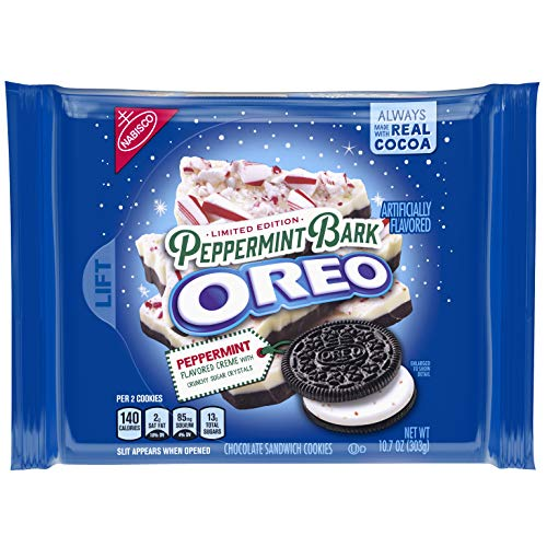 Oreo Seasonal Peppermint Bark Chocolate Sandwich Cookies, 10.7 oz.