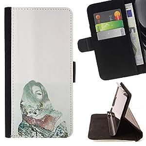 Momo Phone Case / Flip Funda de Cuero Case Cover - Dolor Deep Dark Green Money - Samsung Galaxy S6 Edge Plus / S6 Edge+ G928