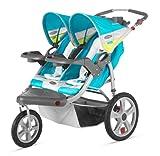 Instep Grand Safari Double Swivel Stroller, Blue/Yellow