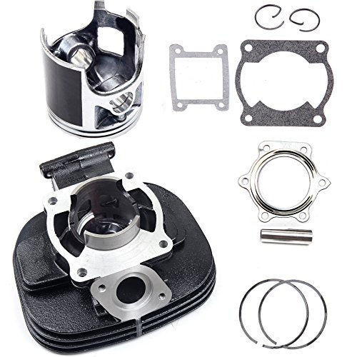 ECCPP New Cylinder Piston Ring Gasket for 1988-2006 Yamaha Blaster 200 YFS 200 Compatible fit for Cylinder Piston Gasket Top End Kit]()