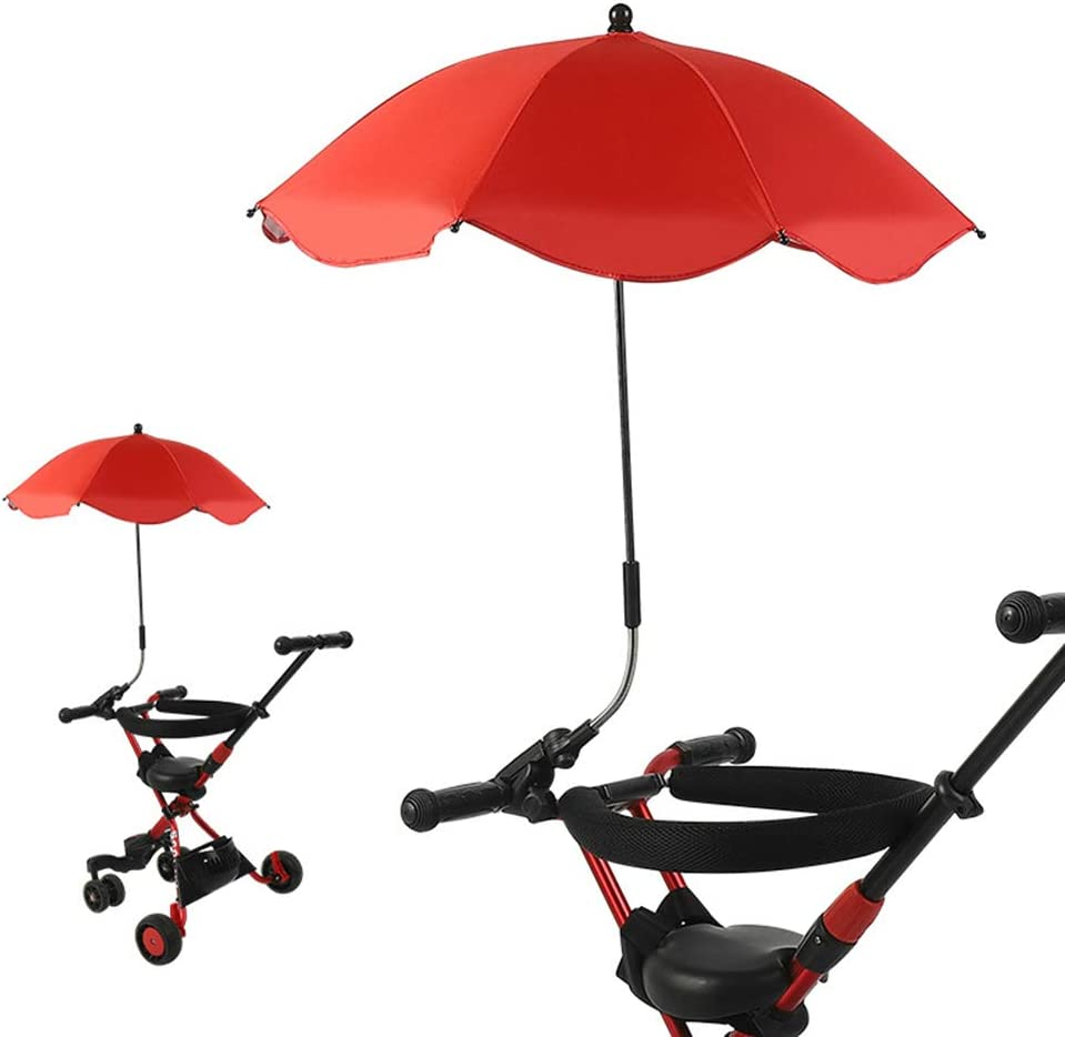 Grey Clip On Height Adjustable Pushchair Umbrella Sunshade for Babies Pram Buggy