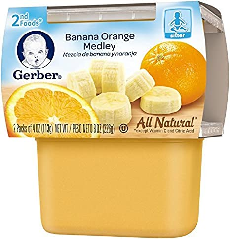 Gerber 2nd Foods Fruits - Banana Orange Medley - 4 oz - 2 ct - 8 pk: Amazon.com: Grocery & Gourmet Food