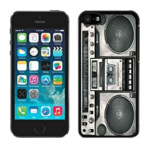 Custom TPU Iphone 5c Protective Case Boombox Best Gifts Black Soft Silcon Cover Mobile Phone Accessories