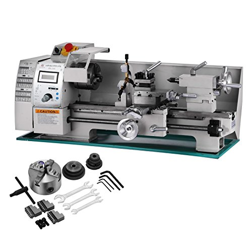 4. Best Equip 8x16 Inch Metal Lathe 2500RPM 750W Mini Bench Lathe Variable Spindle Speed Lathe Machine