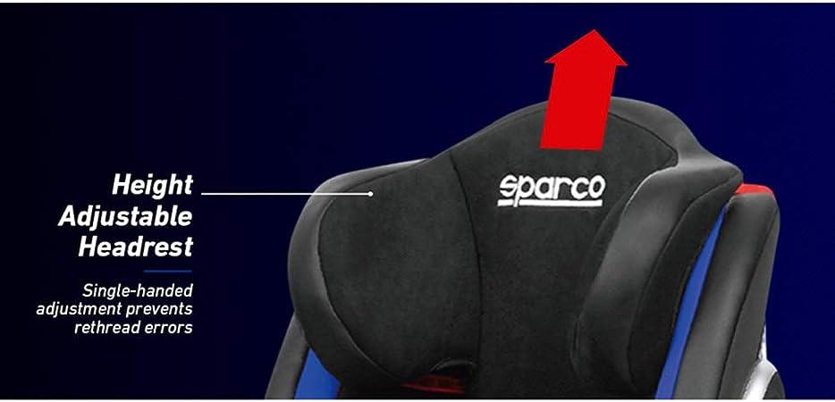 Sparco G123bl Kindersitz F1000ki Isofix Schwarz Blau 9 Bis 36 Kg 9 Monate Bis 12 Jahr E4 R44 Auto