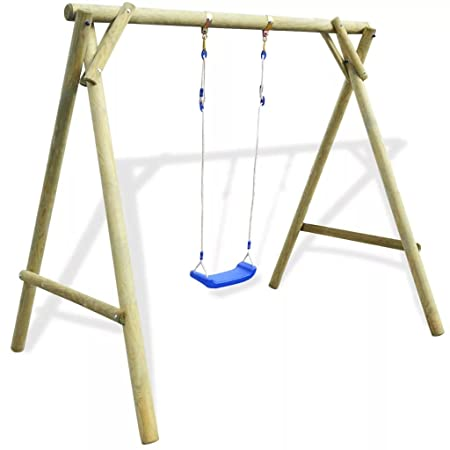 tidyard Outdoor Schaukel Holz für Garten | Schaukelgestell Holz | Gartenschaukel | Kinderschaukel | Schaukelgerüst aus Impräg