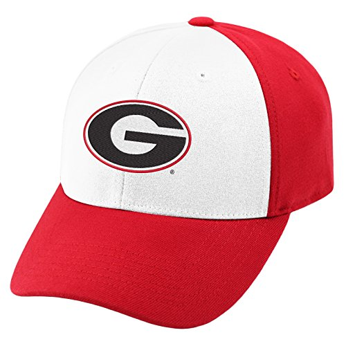 Top of the World NCAA-Premium Collection Two Tone-One-Fit-Memory Fit-Hat Cap- Georgia (Bulldogs One Fit Cap)