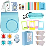 Neewer 27-in-1 Camera Bundle Accessories Kit for Fujifilm Instax Mini 8/8s, Includes(1)Case+(1)Selfie Lens+(4)Colored Filters+(10)Wall Hang Frames+(3)Pack of Stickers+(5)Frames and More