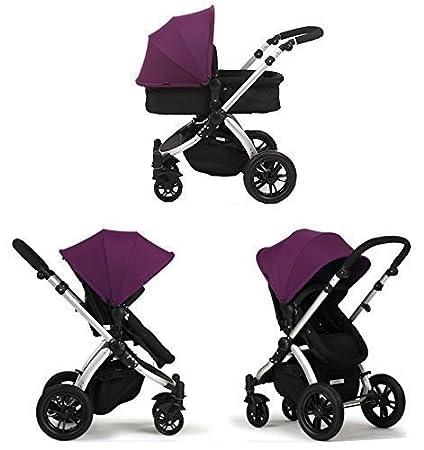 Cochecito de Bebe 3 en 1 Star Ibaby One Color Purple (Silla + Capazo + Grupo 0 + Cubrepies + Bolso + Sombrilla).