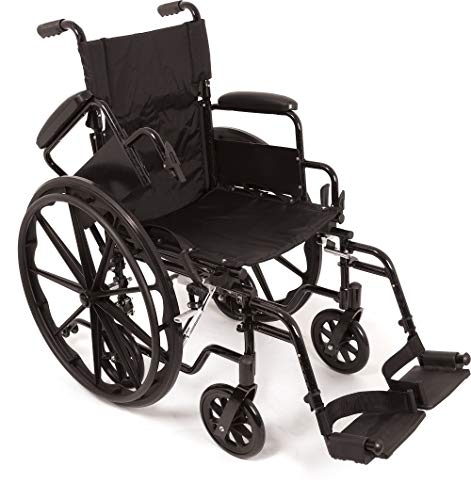 (ProBasics K4 Transformer Wheelchair Self Propelling Transforms to a Transport Chair with Flip-Back Desk Arms (20 X 16 Elevated LEGREST) )