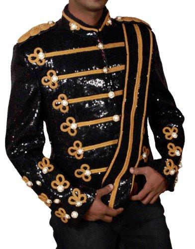 HLS Michael Jackson Noir Paillettes 1984militaire pour homme