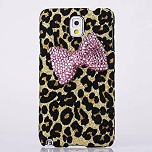 WQQ Bowknot Leopard Back Cover Case for Samsung Galaxy Note 3 N9006(Assorted Colors) , Yellow